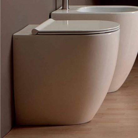 Nowoczesna biała miska ceramiczna Shine Square H50 Rimless