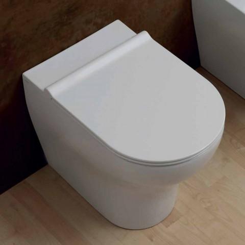Biała ceramiczna miska WC Star 54x35cm wykonana we Włoszech, nowoczesny design