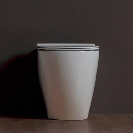 Nowoczesna miska ceramiczna biała Shine Square Rimless wykonana we Włoszech