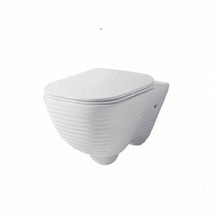 Nowoczesna zawieszka toaletowa w kolorze białym lub kolorowym ceramicznym Trabia