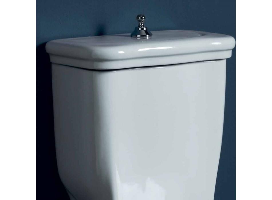 Biała ceramiczna muszla klozetowa o wymiarach 72x36 cm, wyprodukowana we Włoszech