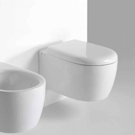 WC wiszące o nowoczesnym designie z kolorowej ceramiki Made in Italy - Lauretta