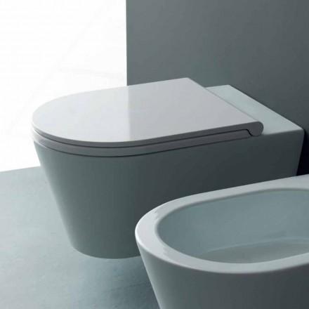 Nowoczesna ceramiczna miska WC Sun Round 57x37 cm, wyprodukowana we Włoszech