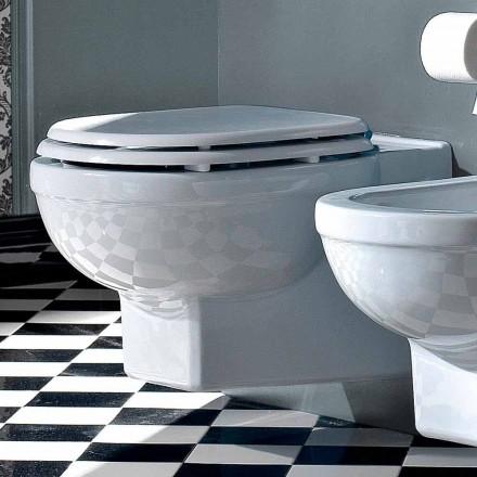 Wc Zawieszony wazon klasyczny styl z białej ceramiki Wyprodukowano we Włoszech - Marwa