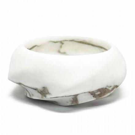 Okrągła półka z marmuru Arabescato Made in Italy - Casimir