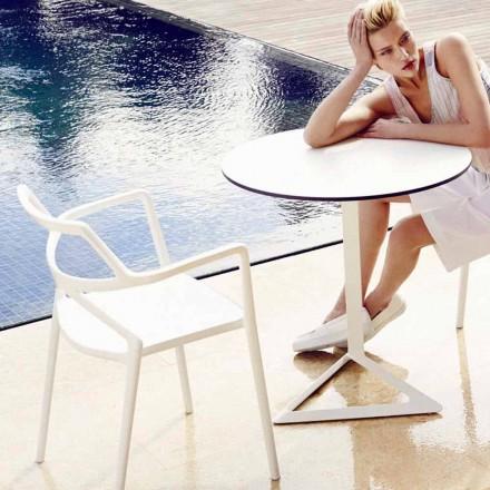 Vondom Delta krzesło do ogrodu design z polipropylenu, 4 sztuk