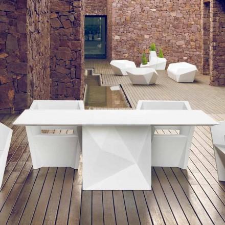 Vondom Faz stół ogrodowy biały design 200x100 cm