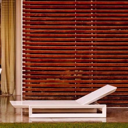Vondom Frame leżak ogrodowy design z białego polietylenu