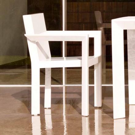 Vondom Frame krzesło ogrodowe z podłokietnikami żywica polietylenowa