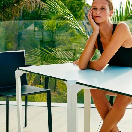 Vondom Quartz stół kwadratowy do ogrodu, nowoczesny design