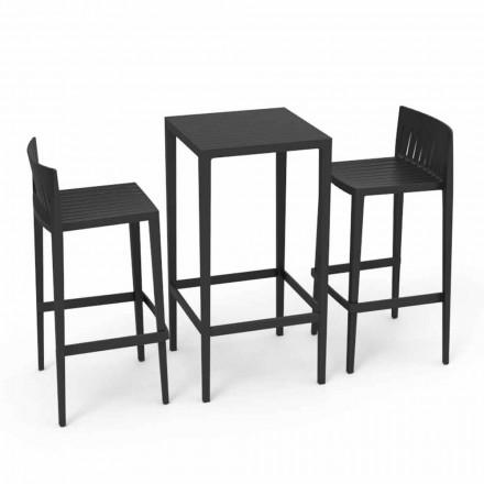 Vondom Spritz meble ogrodowe stół i 2 taborety czarne