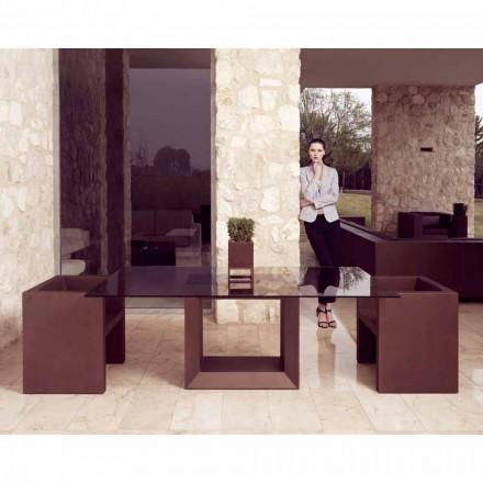 Vondom Vela fotel design do ogrodu w wykończeniu brązu