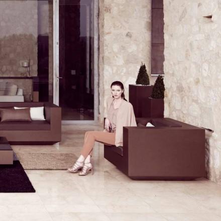 Vondom Vela fotel ogrodowy  wykończeniu brązu z polietylenu