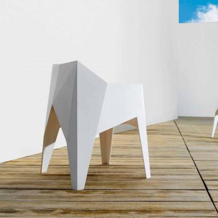 Vondom Voxel krzesło ogrodowe kolorowe design z polietylenu