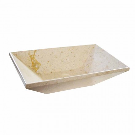Umywalka nablatowa Wok z marmuru – trapez, nowoczesny design